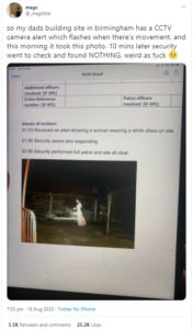 @_meglittle original tweet for ghost found on building site in birmingham
